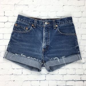 Levi's Jean Cut Off Shorts 505 Blue